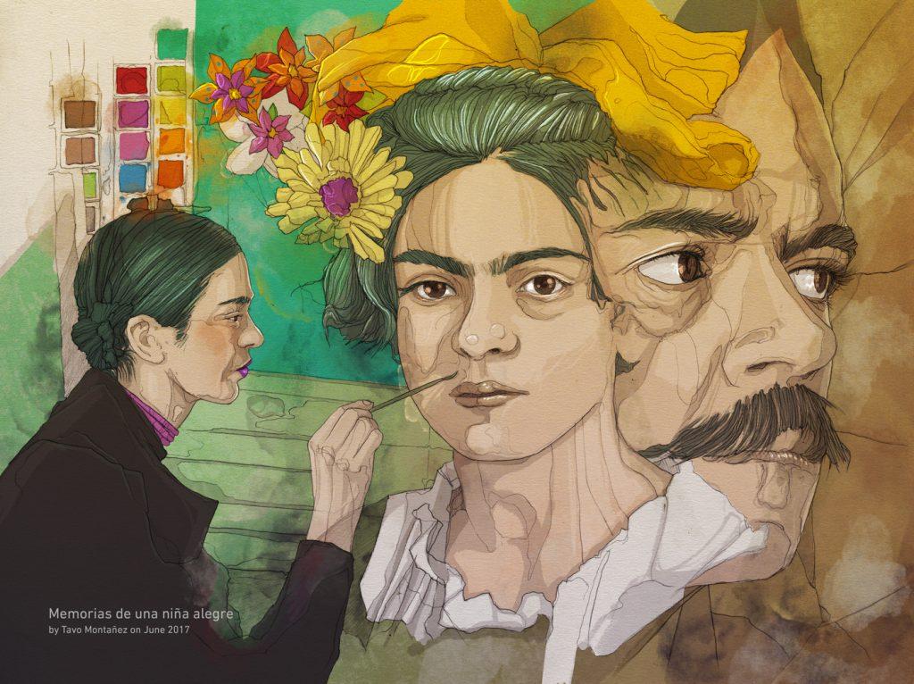 Frida Kahlo by Tavo Montañez   Editorial Illustration