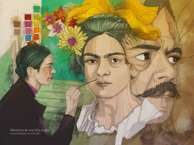 Frida Kahlo by Tavo Montañez | Editorial Illustration