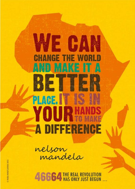 Nelson Mandela by Maria Papaefstathiou