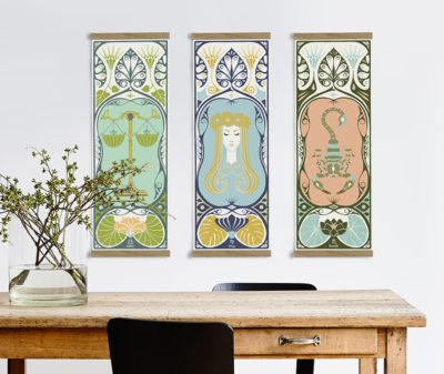 12 beautiful art nouveau zodiac designs