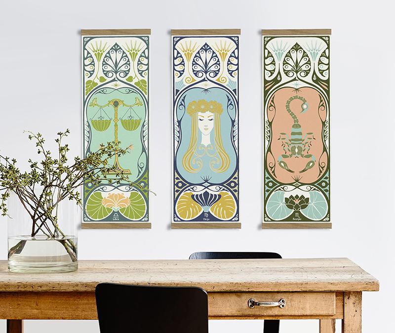 12 beautiful art nouveau zodiac designs