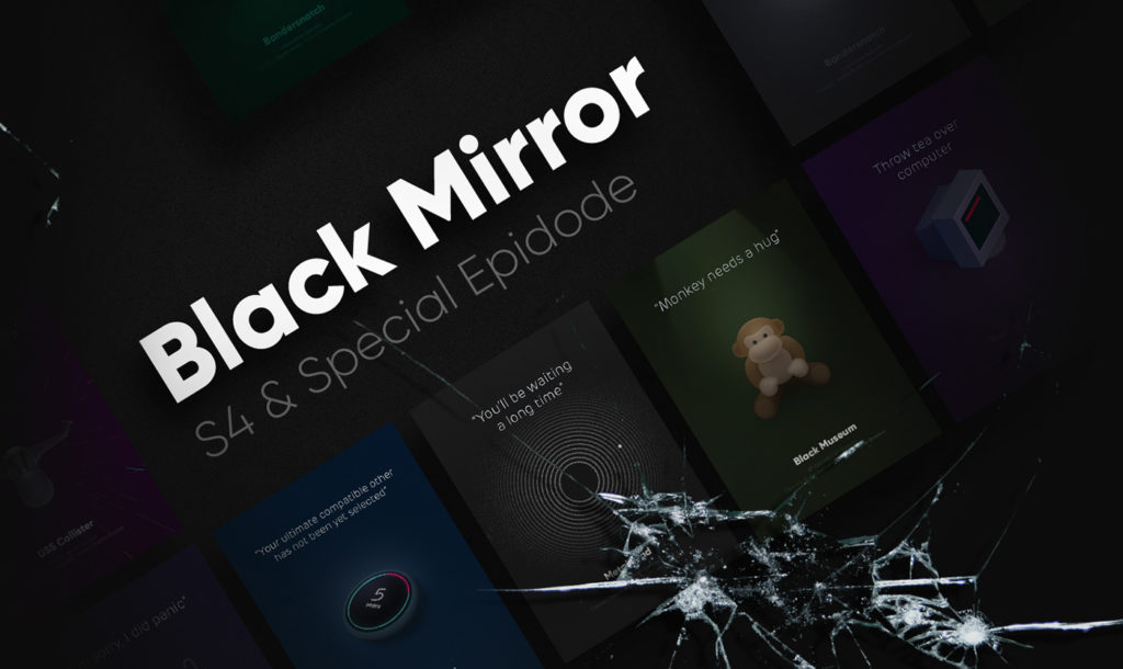 Animated Posters for the Black Mirror series