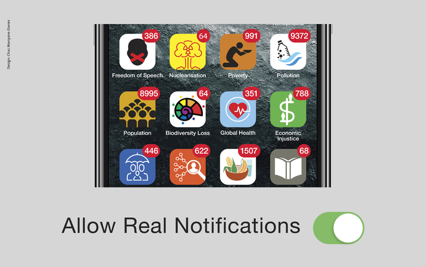 Allow Real Notifications poster designed by Chaz Maviyane-Davies