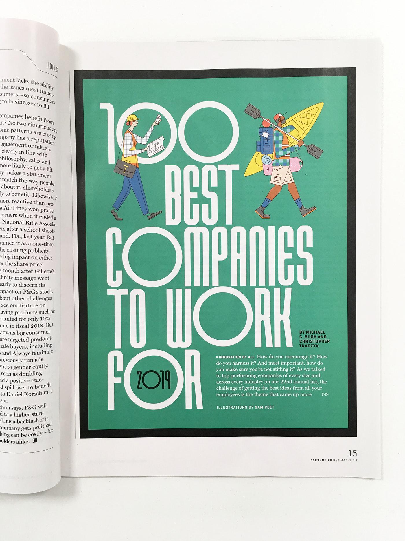 Fortune Magazine Illustrations by Sam Peet