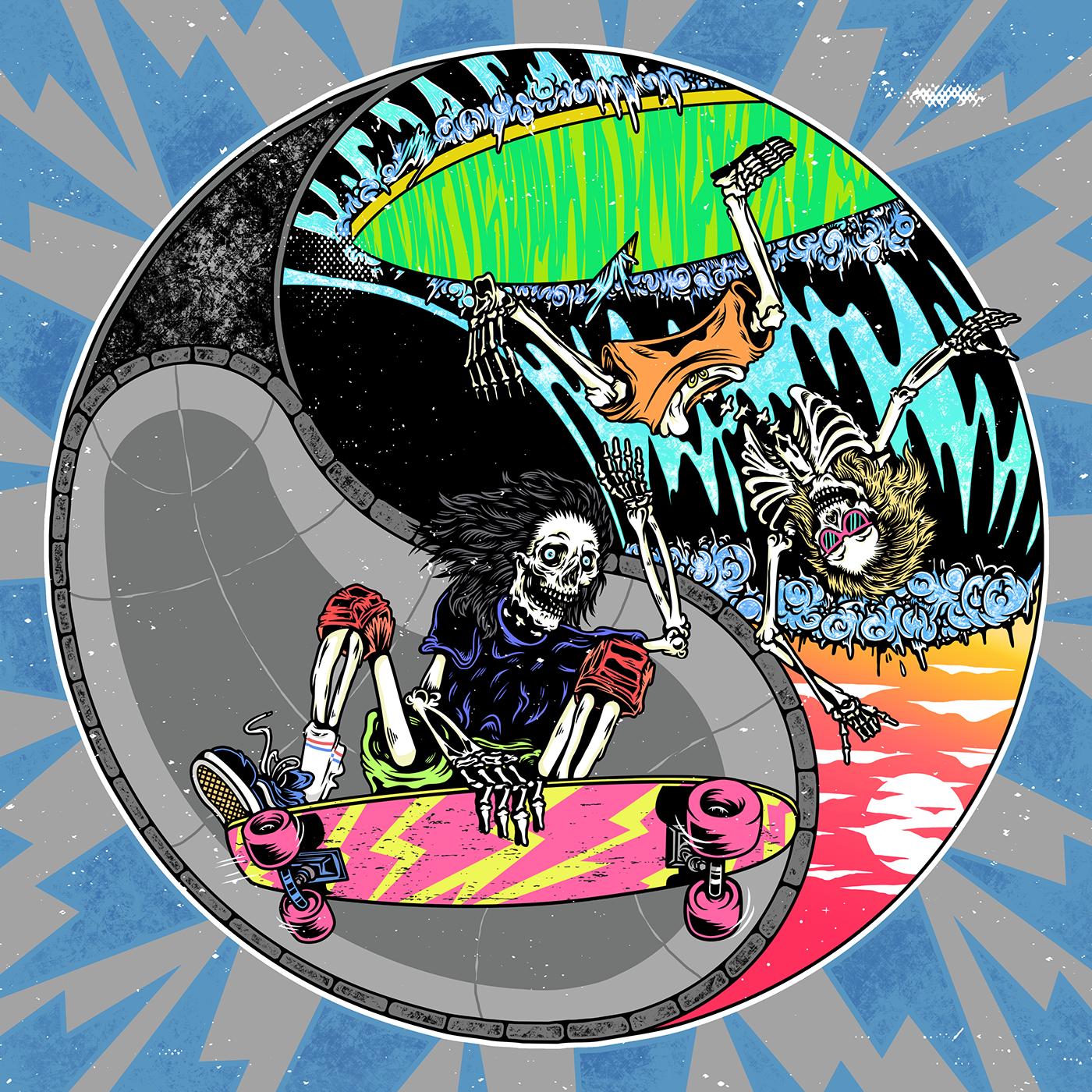 Skull skating by Christian Sweet