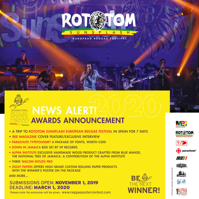 Reggae Poster Contest awards